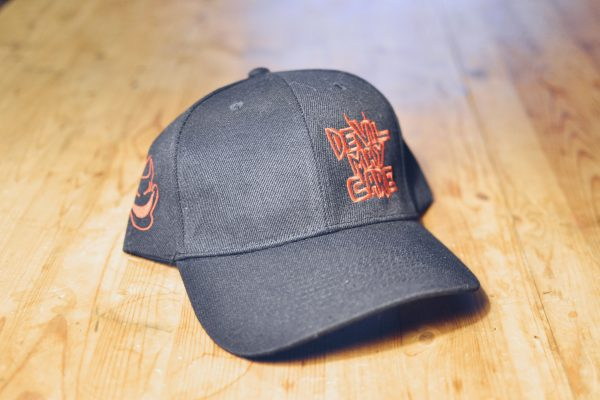 Black logo ballcap with red embroidery