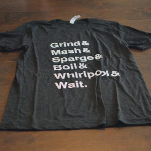 Charcoal black men's t-shirt